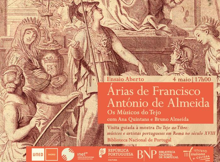 Ensaio aberto / Visita guiada | Árias de Francisco António de Almeida | 4 maio | 17h00 | BNP
