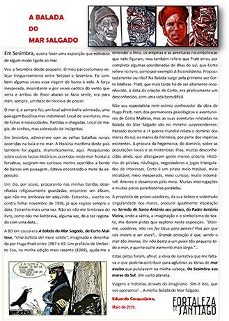 """Folheto da Exposição """"A Balada do Mar Salgado"""" de Eduardo Carqueijeiro"""