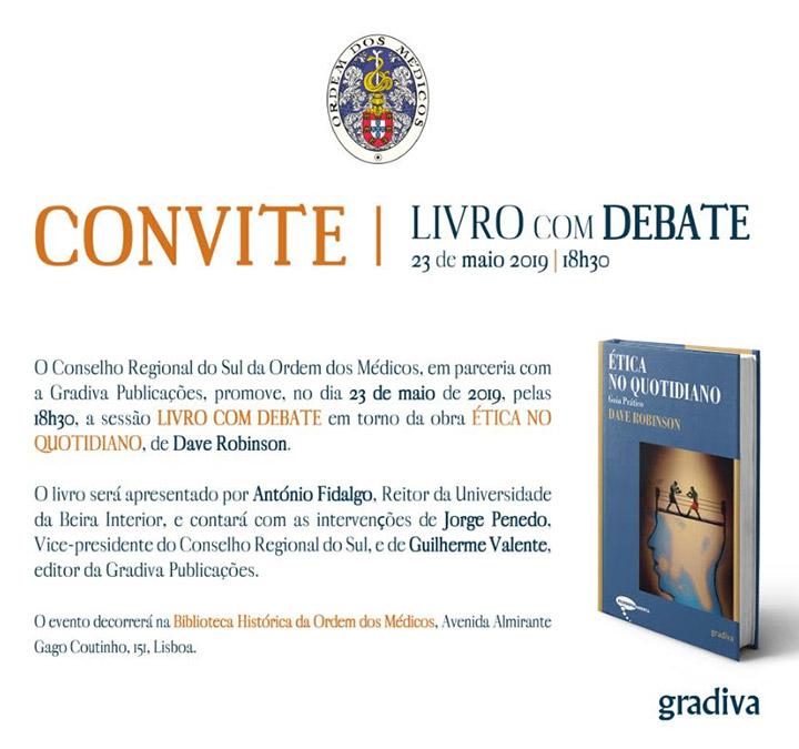 Livro com Debate | dia 23 de maio de 2019 na Biblioteca Histórica da Ordem dos Médicos