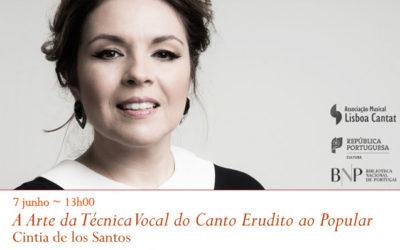 Recital | A Arte da Técnica Vocal do Canto Erudito ao Popular | 7 jun. | 13h00 | BNP