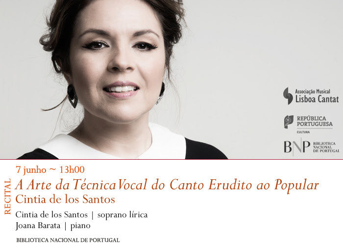 Recital | A Arte da Técnica Vocal do Canto Erudito ao Popular | 7 jun. | 13h00 | BNP