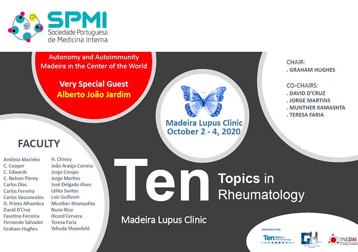 Ten Topics in Rheumatology | Madeira Lupus Clinic 2020 - Save the Date