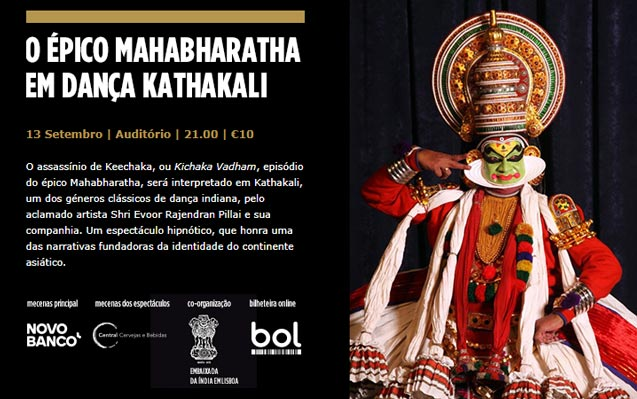 13 setembro | O épico Mahabharatha em dança Kathakali