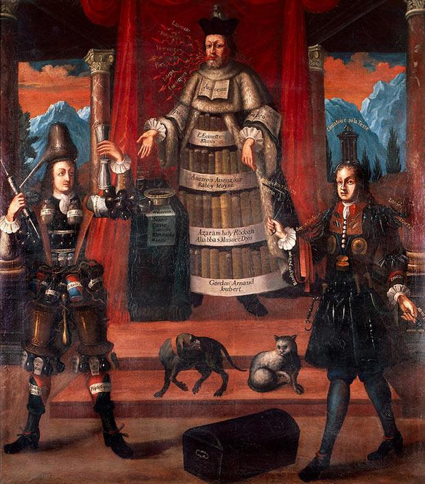 """""""A Alegoria da Medicina, da Farmácia e da Cirurgia"""" (SEC. XVII) (NICOLAS DE LAMESSIN, 1632-1694) (COLEÇÃO WELLCOME)"""