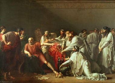 """Hipócrates a recusar as oferendas de Artexerces"" (1792) (ANNE-LOUIS ROUSSY-TRIOSON, 1767-1824)"