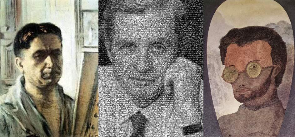 Abel Salazar, João Lobo Antunes e Mário Botas