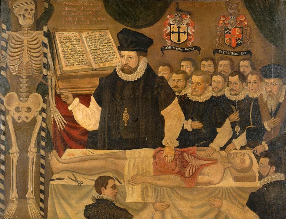"""""""Lição de cirurgia aos cirurgiões barbeiros por John Banister"""" (1581) (Jack Orr, 1890-1961) (Coleção Wellcome)"""