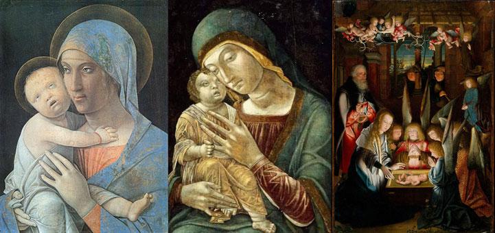 """""""Madona e o menino"""" e """"A adoração de Cristo Criança"""""""
