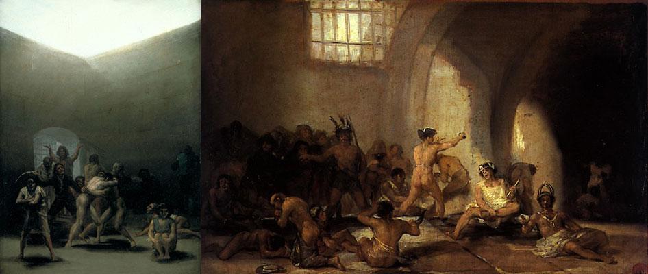 """""""A casa dos lunáticos"""" (1794) e """"A casa dos alienados"""", """"Hospital de St. Pancras para doentes com varíola"""""""
