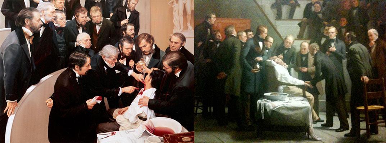 """""""Autorretrato"""" e """"A Cortisona"""", """"Raoul Dufy a pintar"""", """"Ether Day"""", """"A primeira intervenção cirúrgica sob anestesia geral"""""""