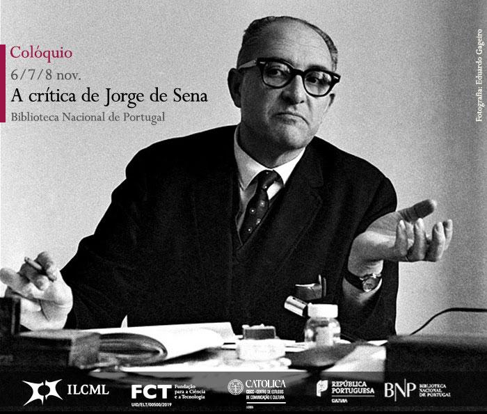 Colóquio | A crítica de Jorge de Sena | 6 - 8 nov. | BNP