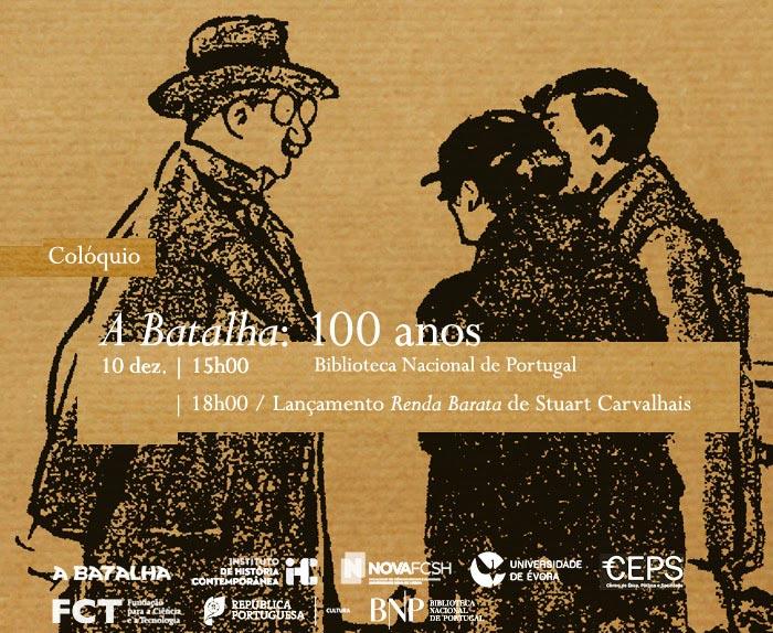 Colóquio | A Batalha: 100 anos | 10 dez. | 15h00 | BNP