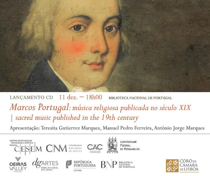 Lançamento CD | Marcos Portugal: música religiosa publicada no século XIX | 11 dez. | 18h00 | BNP