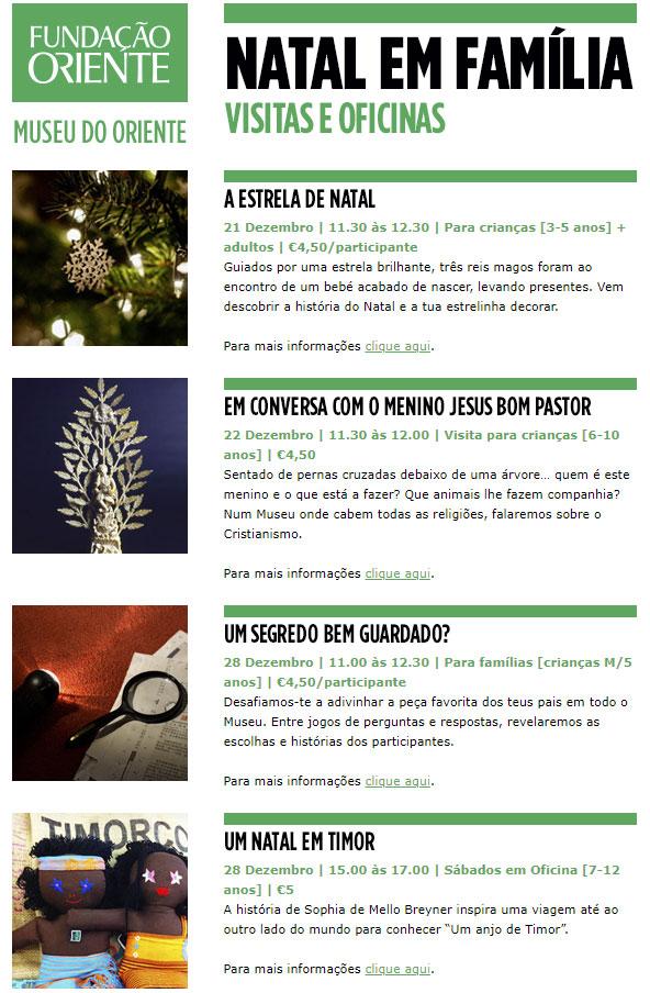 Museu do Oriente - NATAL EM FAMÍLIA | VISITAS E OFICINAS