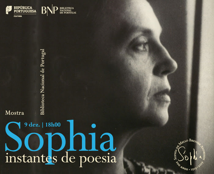 Mostra | Sophia: instantes de poesia | 9 dez. | 18h00 | BNP