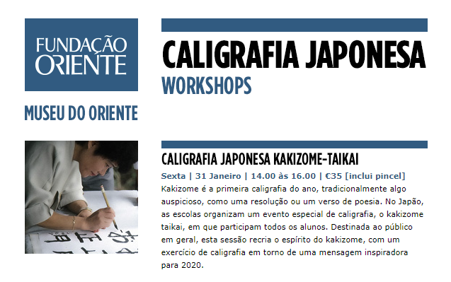 WORKSHOPS | CALIGRAFIA JAPONESA