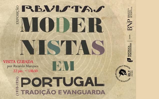 Visita guiada | Revistas Modernistas em Portugal – Tradição e Vanguarda (1910-1926) | 22 jan. | 18h30 | BNP