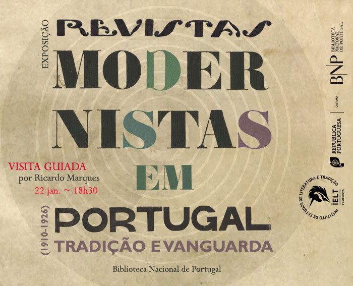 Visita guiada | Revistas Modernistas em Portugal - Tradição e Vanguarda (1910-1926) | 22 jan. | 18h30 | BNP