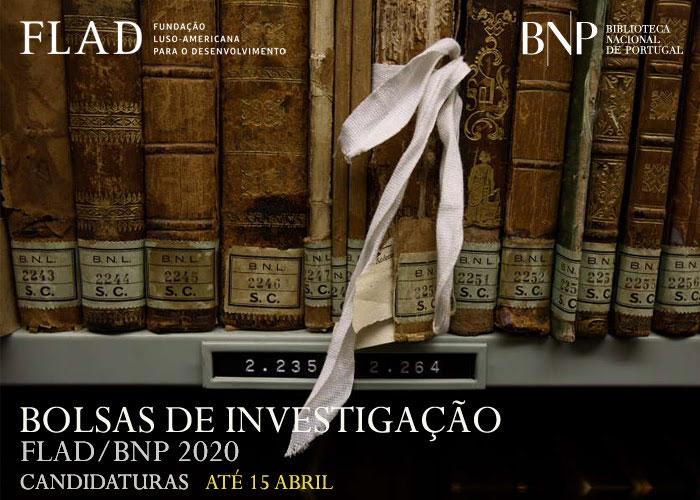 Bolsas de investigação FLAD/BNP 2020 | Candidaturas até 15 abril