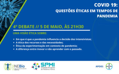 4º Debate Covid-19: Questões Éticas em tempos de Pandemia – Dia 5 de Maio