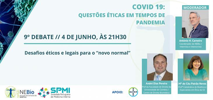 9º Debate: Questões éticas em tempo de pandemia pelo COVID 19