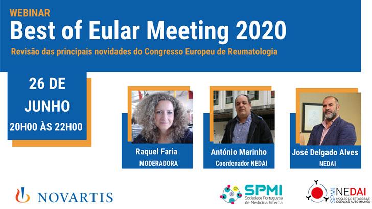 WEBinar: Best of Eular Meeting 2020 - hoje das 20h as 22h