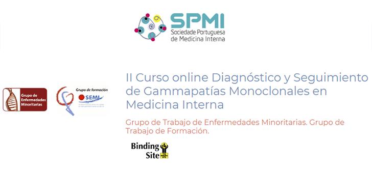 II Curso Online Diagnóstico y Seguimiento de Gammapatías Monoclonales en Medicina Interna - Oferta de 15 inscrições