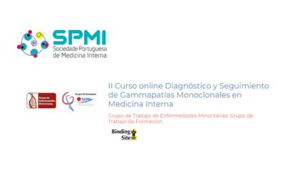 II Curso Online Diagnóstico y Seguimiento de Gammapatías Monoclonales en Medicina Interna – Oferta de 25 inscrições