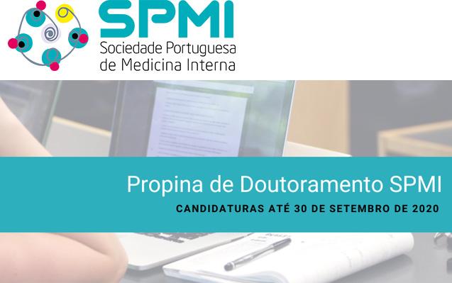 Propina de Doutoramento da SPMI 2020 – Estão abertas as candidaturas à Propina de Doutoramento, até dia 30 de Setembro