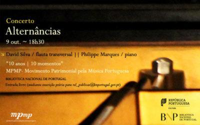 Concerto | Alternâncias | 9 out. | 18h30 | BNP