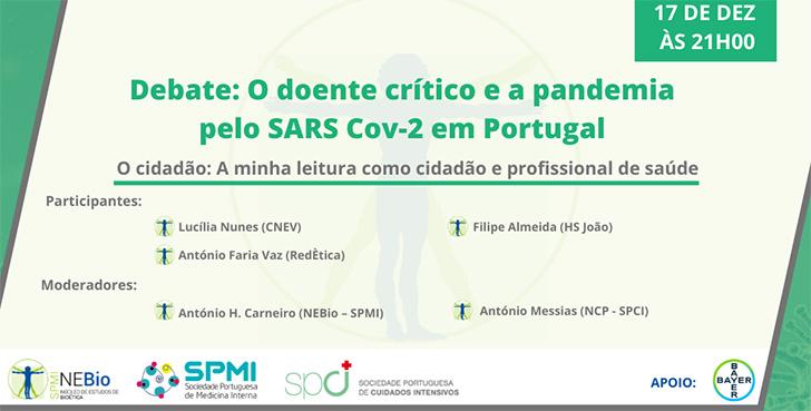Debates: O doente crítico e a pandemia pelo SARS Cov-2 em Portugal - Inscreva-se