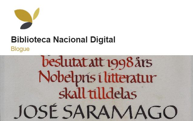 Blogue Biblioteca Nacional Digital | 0 «nosso» Prémio Nobel da Literatura