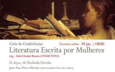 Conferência online | Ciclo Literatura Escrita por Mulheres | Os Anjos, de Teolinda Gersão | 28 jan. | 18h00