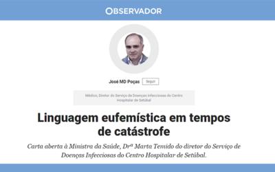 Linguagem eufemística em tempos de catástrofe, carta aberta à Ministra da Saúde, Drª Marta Temido