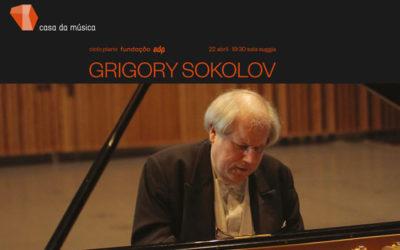 Grigory Sokolov – ciclo piano Fundação EDP · 22 abril
