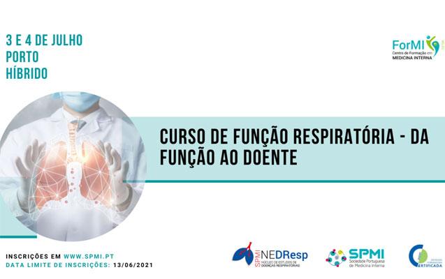 Curso de Função Respiratória – da função ao doente – Inscrições Abertas