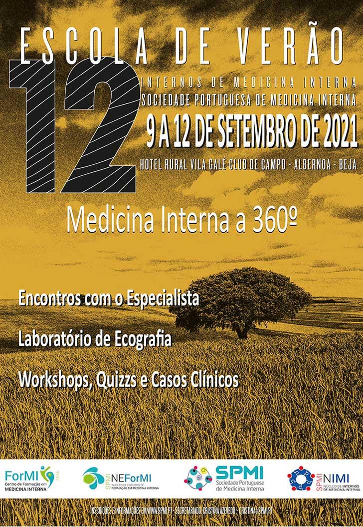 12ª Edição da Escola de Verão de Medicina Interna - Inscrições Abertas