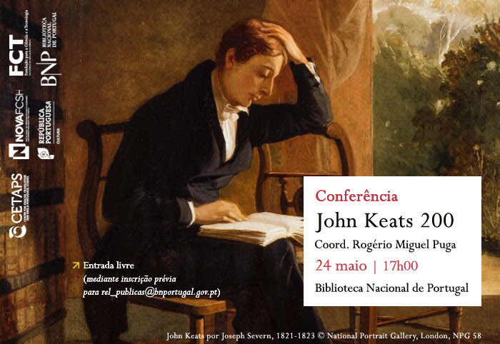 Conferência   John Keats 200   24 maio   17h00   BNP