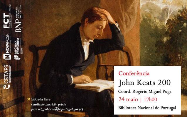 Conferência | John Keats 200 | 24 maio | 17h00 | BNP