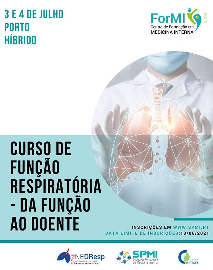 Curso de Função Respiratória - da função ao doente - Inscrições Abertas