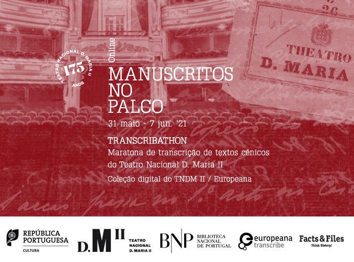 Maratona de transcrição | Transcribathon - Manuscritos no palco | 31 maio - 7 jun. | Online
