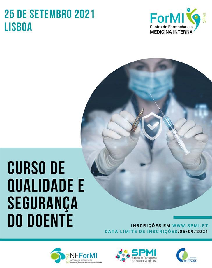 Curso de Qualidade e Segurança do Doente - Inscrições Abertas
