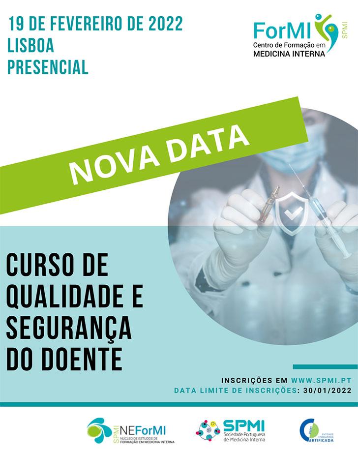 Curso de Qualidade e Segurança do Doente - Nova Data