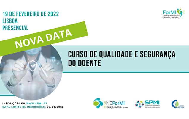 Curso de Qualidade e Segurança do Doente – Nova Data