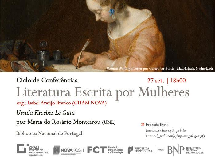 ADIAMENTO - Conferência | Ciclo Literatura Escrita por Mulheres: Ursula Kroeber Le Guin | 27 set. | 18h00 | BNP