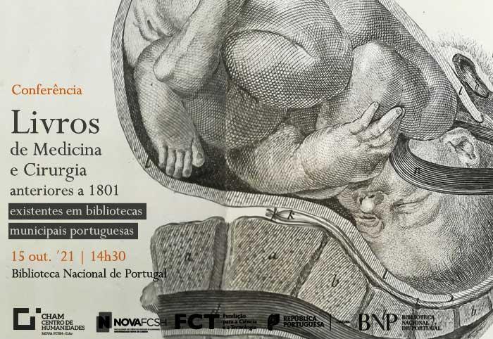 Conferência | Livros de Medicina anteriores a 1801, existentes em bibliotecas municipais portuguesas | 15 out. | 14h30 | BNP